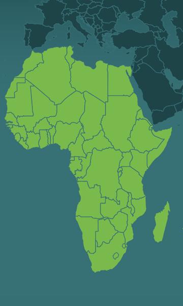 Implantations Afrique